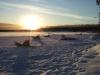 Lever de soleil sur un lac de Finlande